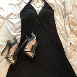 Sexy Halter Little Black Dress. Medium